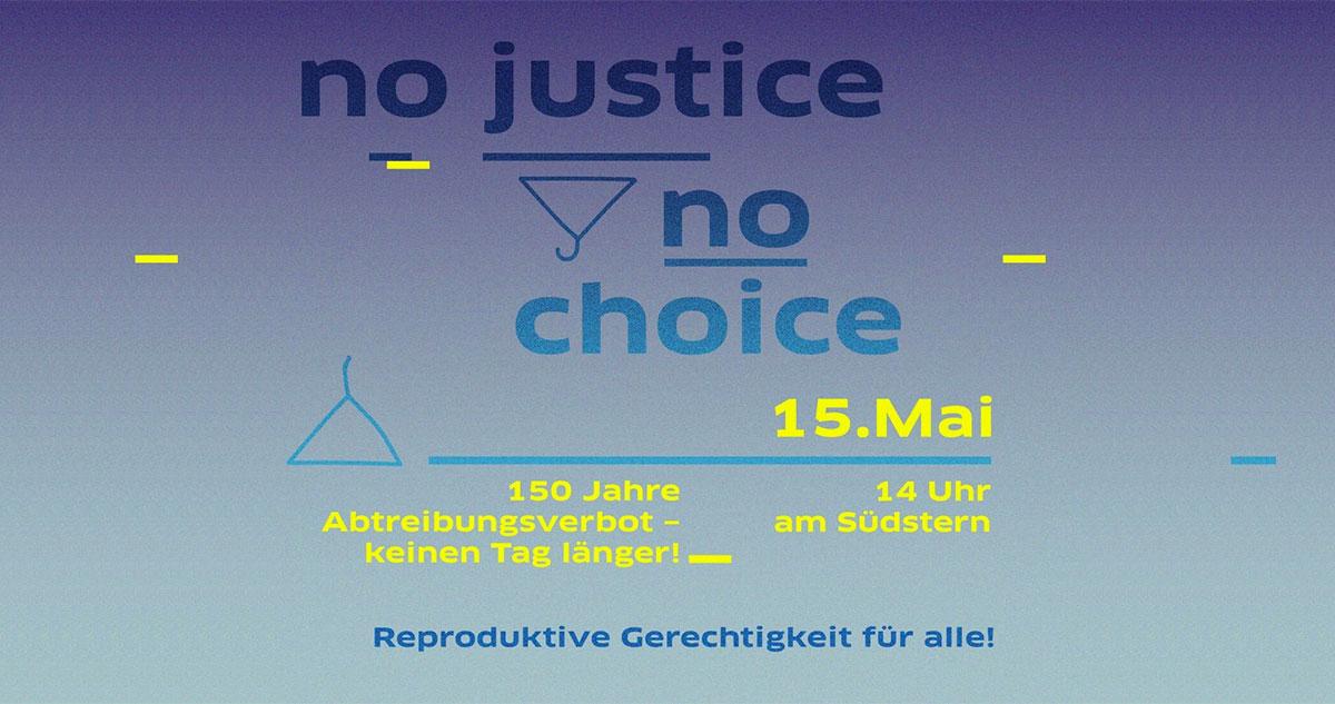 Fahrraddemo: No Justice No Choice – Cycling for feminism