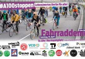 Fahrraddemo gegen die A100 in Berlin