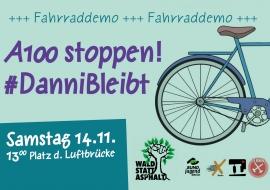 Fahrraddemo #DanniBleibt