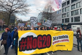 Protest gegen den G20-Gipfel in Hamburg am 7. und 8. Juli 2017