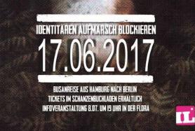Aufmarsch der Identitären Bewegung am 17.6. in Berlin blockieren