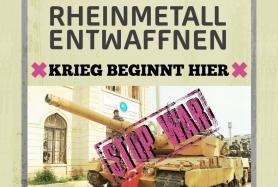 """Plakat """"Rheinmetall entwaffnen!"""""""