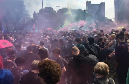 Hamburg am Morgen des 7. Juli 2017