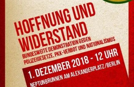 1. Dezember 2018, 12 Uhr, Berlin, Neptunbrunnen. IL-Plakatausschitt