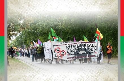 Rheinmetall Entwaffnen Camp Unterlüß Aktionstage Solidarität mit Rojava