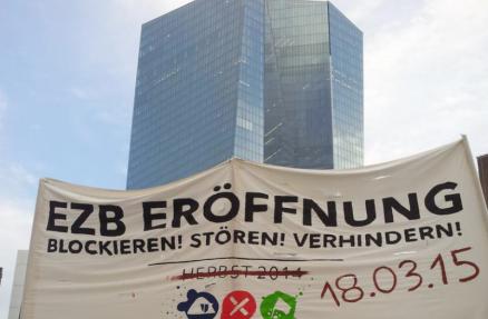 Transpi vor EZB