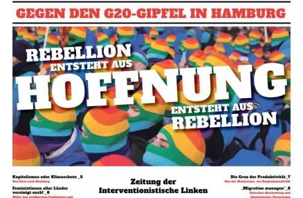 Cover der IL-Zeitung zum G20-Gipfel in Hamburg 2017