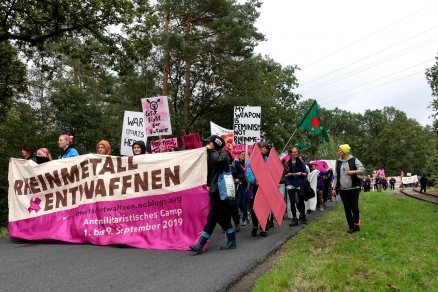Demonstration in Unterlüß am 7. September 2019 während des Rheinmetall-Entwaffnen-Camps