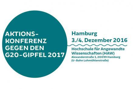 G20 Aktionskonferenz am 3. und 4. Dezember in Hamburg