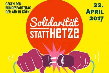 Protest gegen AfD-Parteitag in Köln, April 2017