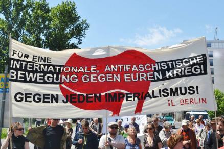 """31.05.14: Demo """"Ukraine: Stoppt Eskalation und drohenden Krieg!"""""""