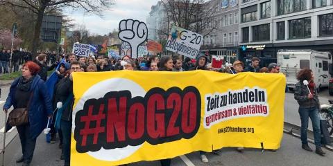 Demo gegen den G20-Gipfel, Aktionskonferenz in Hamburg