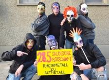 Rheinmetall Entwaffnen   Masken   Jetzt kommen die Toten
