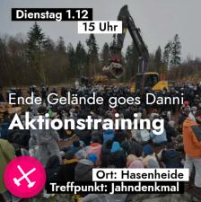 Aktionstraining für DanniBleibt am 1.12.20 in Berlin