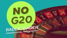 Demo gegen G20-Finanzministertreffen in Baden-Baden